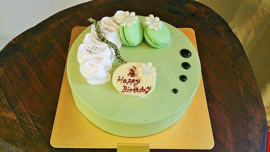 抹茶の特注ケーキ